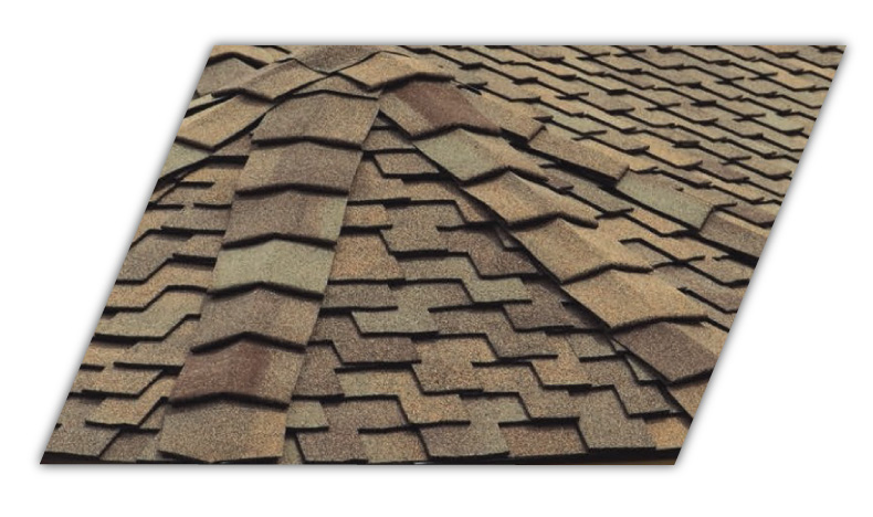 This is an example of the Mountain Ridge roofing shingle
