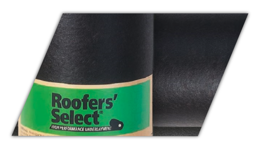 This is an example of the Roofers Select underlayment